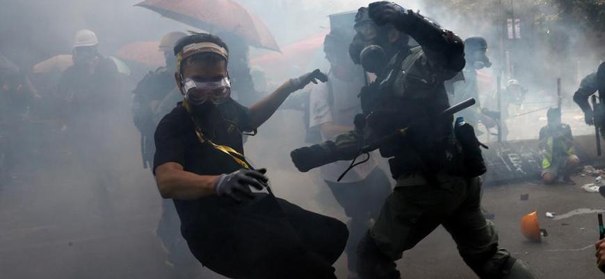 Trump Hong Kong'da protestolara 'desteği' onayladı