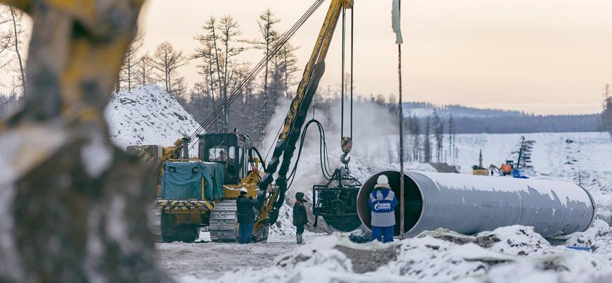 Rusya ile Çin arasındaki doğalgaz hattı açıldı