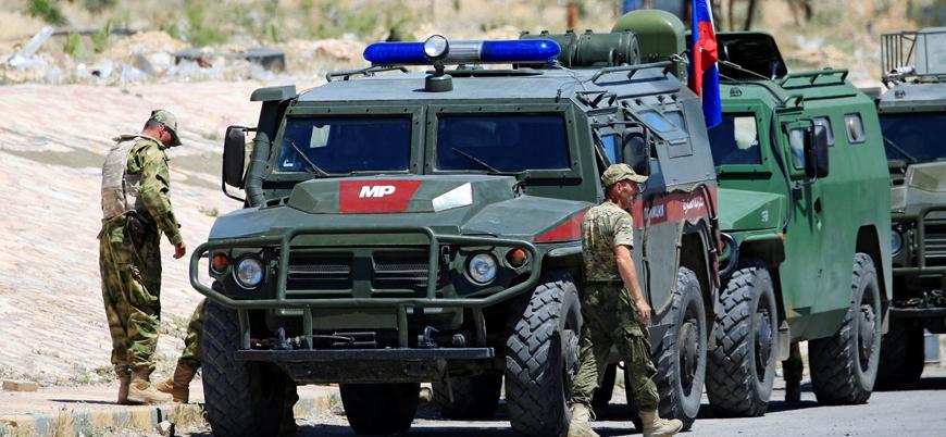 Kobani'de Rus askerlerini taşıyan askeri araca bombalı saldırı