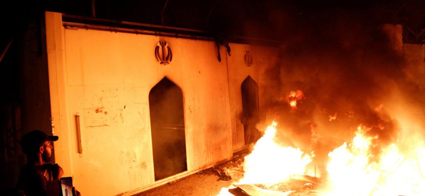 Irak'taki İran Konsolosluğu yeniden ateşe verildi