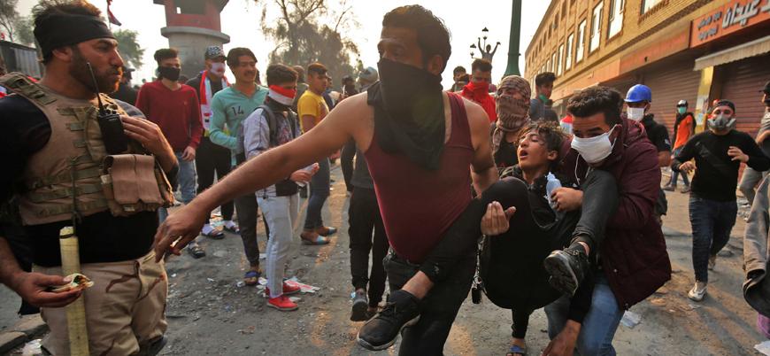 Irak'ta göstericilere ateş açıldı: En az 25 ölü 130 yaralı