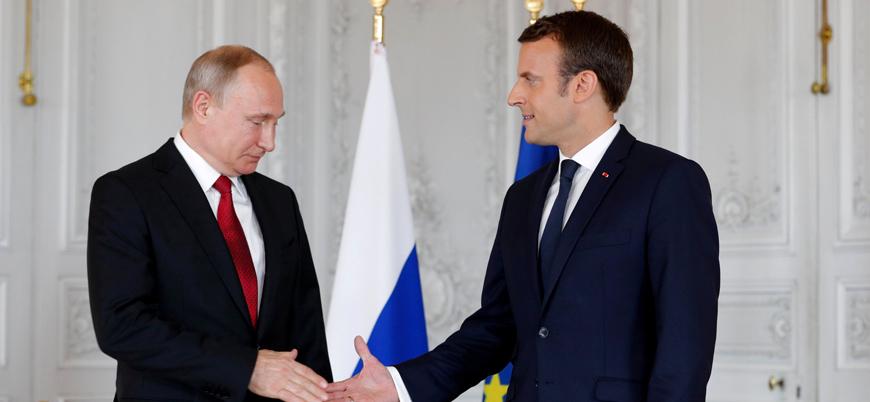 Putin ve Macron Libya'yı görüştü