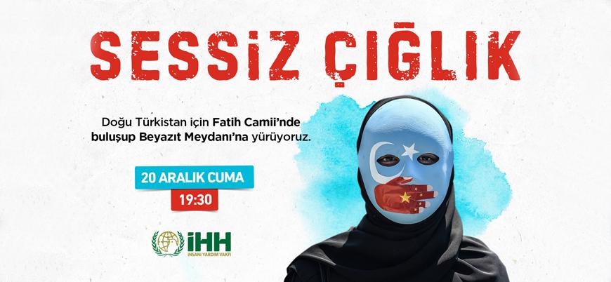 İstanbul'da STK'lardan Doğu Türkistan'a destek yürüyüşü