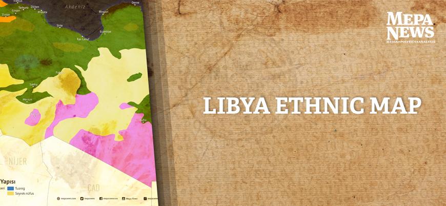 Libya ethnic map