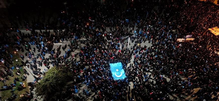 Türkiye genelinde binlerce kişi Doğu Türkistan için yürüdü