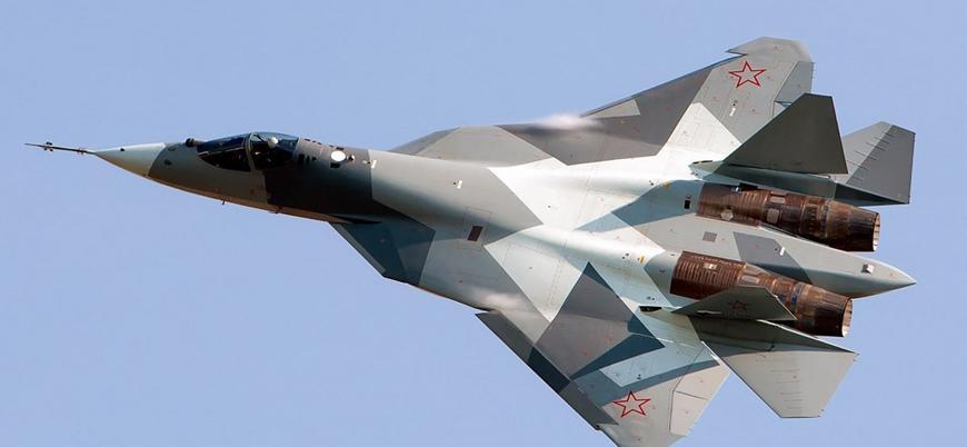 Rusya'ya ait Su-57 savaş uçağı düştü
