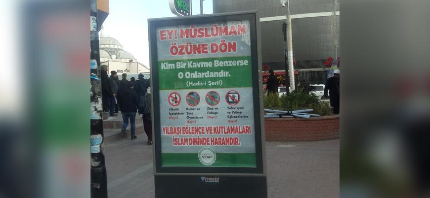 Van'da 'yılbaşı kutlamaları ve piyango haramdır' afişleri
