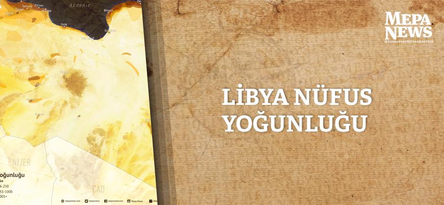 Libya nüfus yoğunluğu haritası