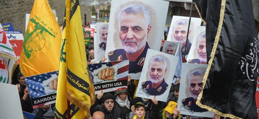 Şii örgütlerin bayraklarıyla yürüdüler: İstanbul'da 'Kasım Süleymani'ye destek' gösterisi