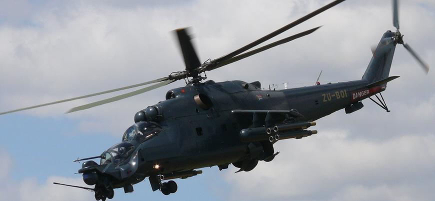 Afganistan'da savaş helikopteri düştü