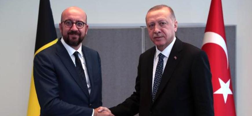 AB Konseyi Başkanı Erdoğan ile Libya'yı görüştü