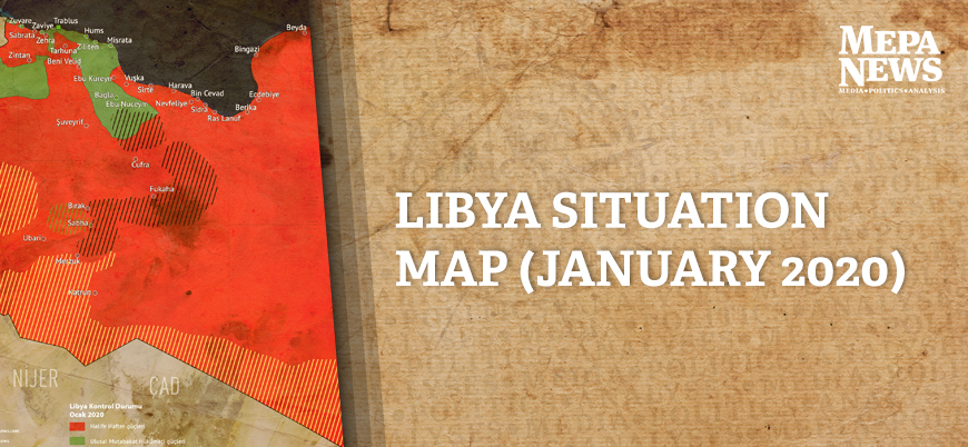 Libya situation map (January 2020)