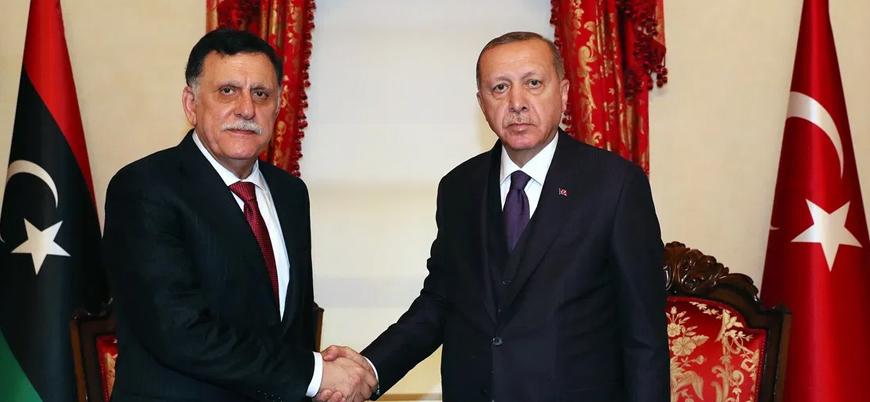 Erdoğan Almanya'da Libya UMH Başbakanı Serrac ile görüştü