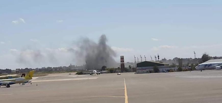 Libya'da Hafter güçleri Mitiga Havaalanı'nı vurdu