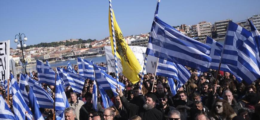 Yunan adalarında mülteci karşıtı gösteriler: Yakında kendi adamızda azınlık olacağız