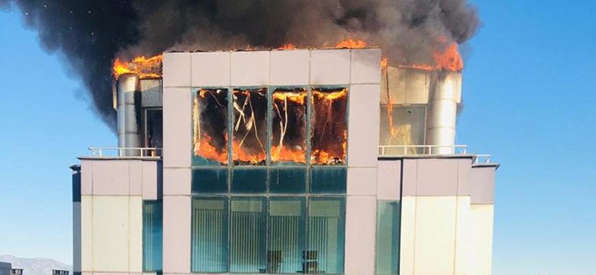 """""""Hasan Akıncıoğlu'na ait iş merkezindeki yangını PKK bağlantılı örgüt üstlendi"""""""