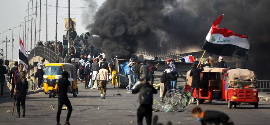 Bağdat hükümeti güçlerinden Iraklı göstericilere sert müdahale