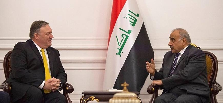 ABD Dışişleri Bakanı Pompeo Bağdat hükümeti başbakanı ile görüştü