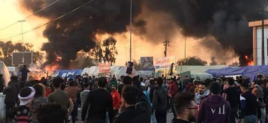 Irak'ta Sadr destekçileri ile eylemciler arasında gerilim: Ölü ve yaralılar var