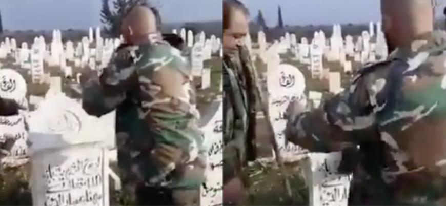 Rusya ve İran destekli rejim milisleri İdlib'de ölülerin mezarlarını tahrip ediyor