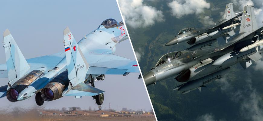 """""""Suriye'de Rus Su-35'leri Türk F-16'larına karşı havalandı"""""""