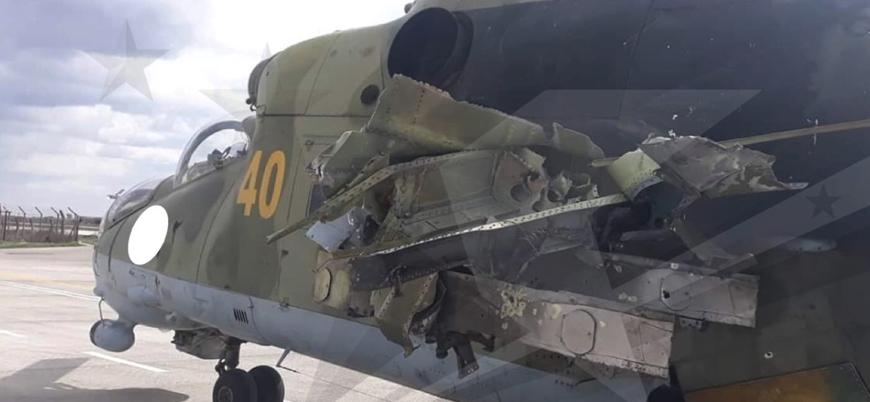 Suriyeli muhalifler Halep'te helikopter vurdu