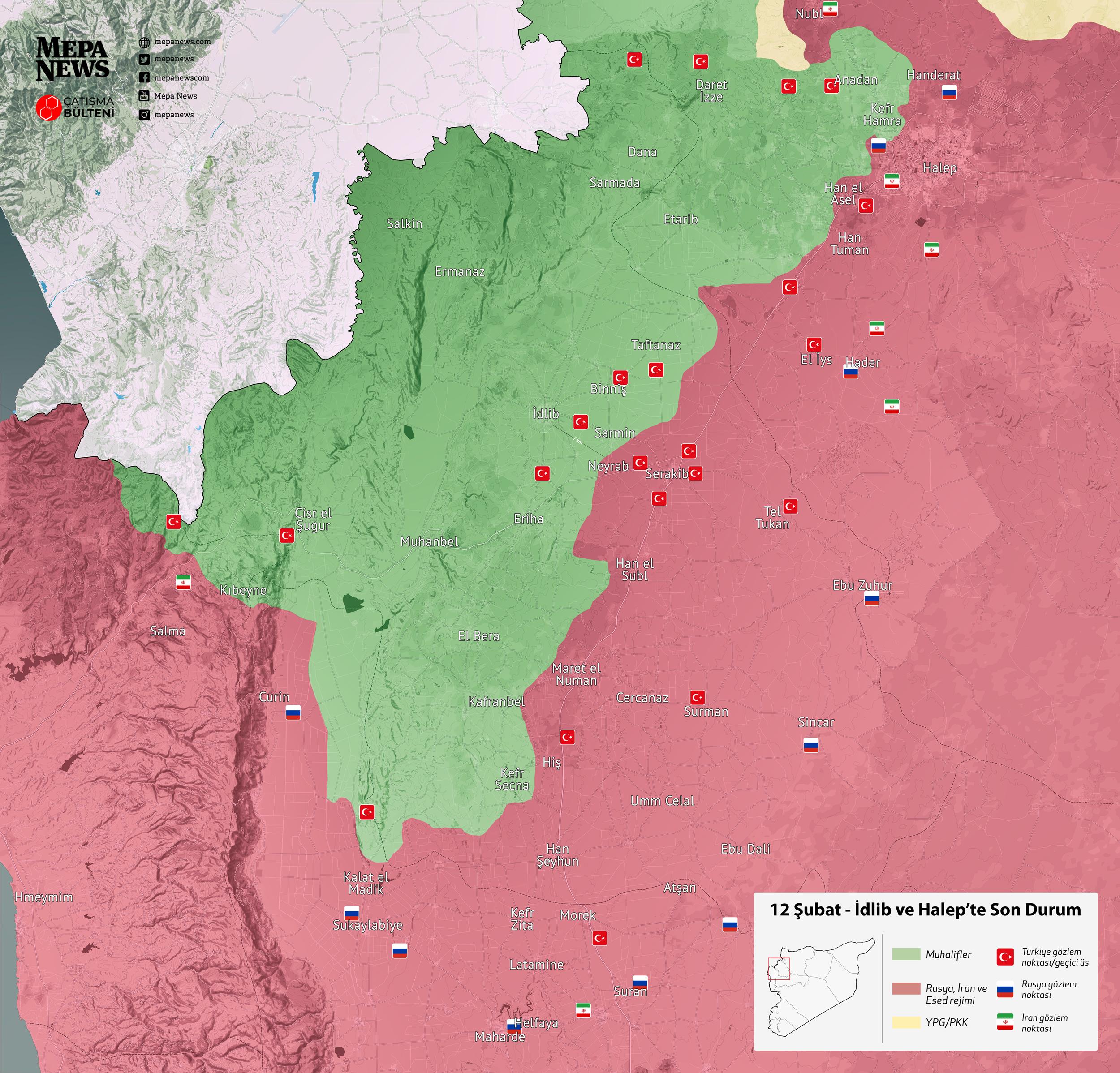 İdlib'de son durum (12 Şubat 2020)