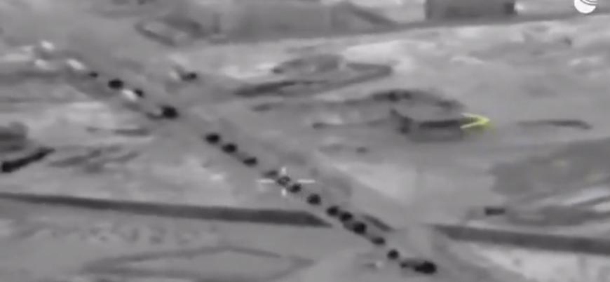 Rusya İdlib'e sevk edilen Türk askeri konvoyunun görüntülerini yayınladı