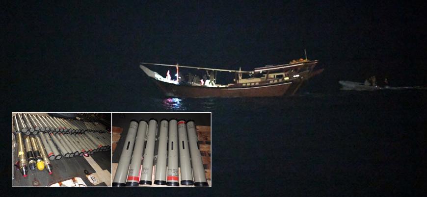 ABD Umman Denizi'nde 'Husilere silah taşıyan' İran teknesine el koydu