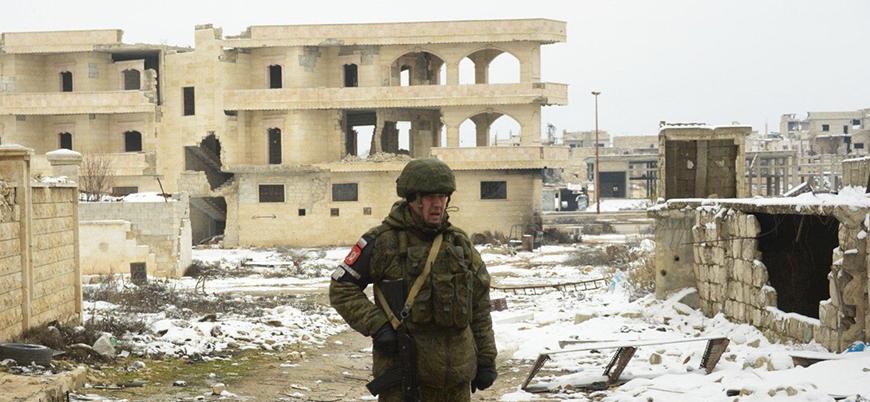 Rus askeri polis gücü İdlib'in en büyük ilçesi Maret el Numan'da