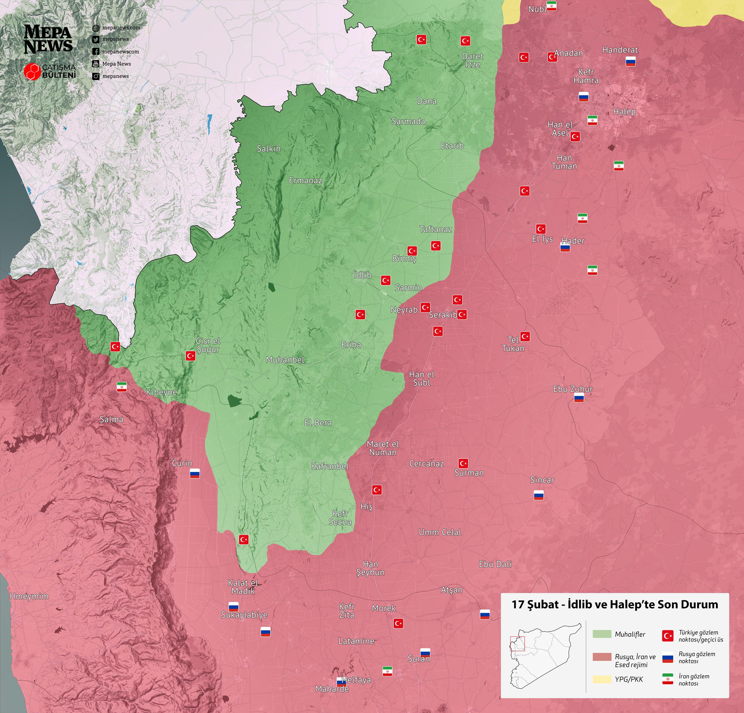 İdlib'de son durum (17 Şubat 2020)