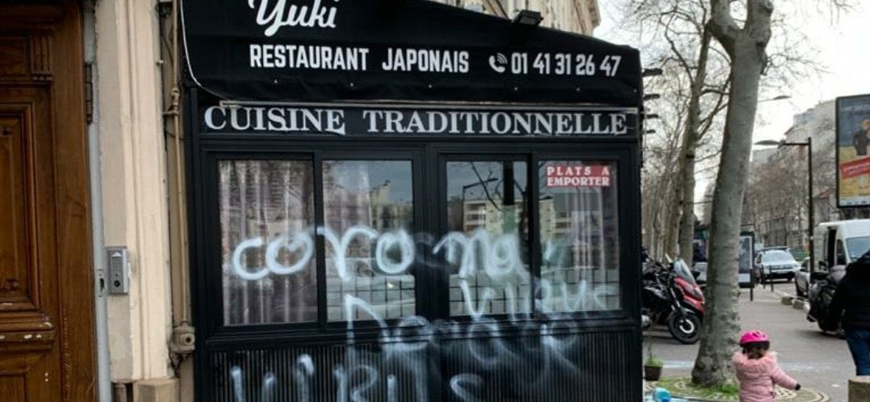 Avrupa'da 'koronavirüs ile mücadele': Japon restoranına saldırdılar