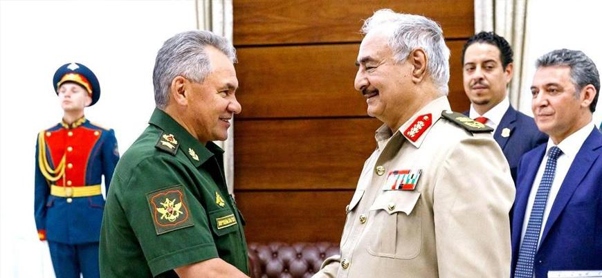 Rusya Savunma Bakanı Şoygu Halife Hafter ile Libya'yı görüştü