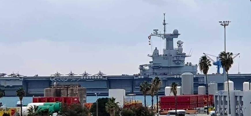 Fransa'nın nükleer motorlu uçak gemisi Charles de Gaulle Güney Kıbrıs'ta