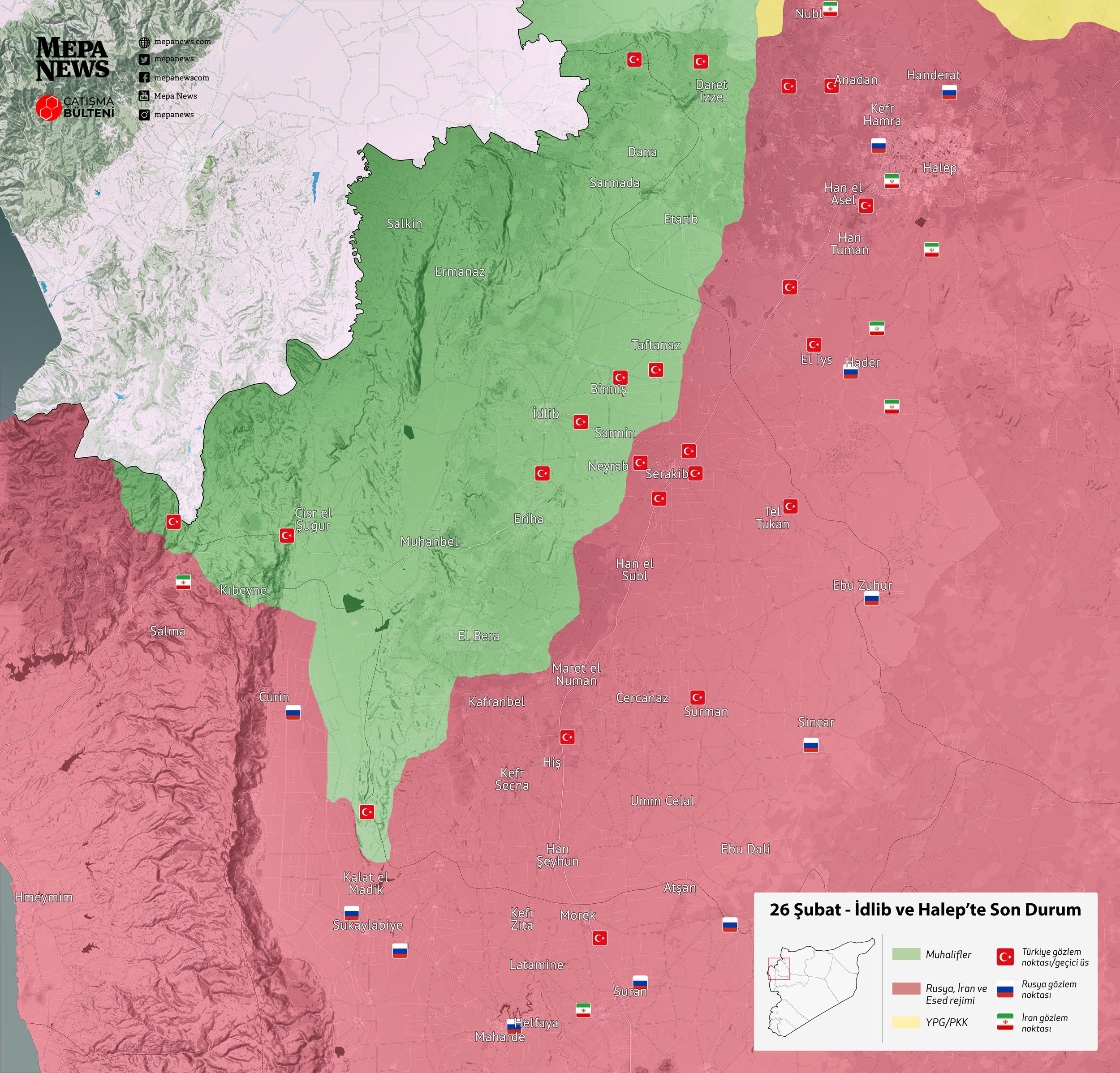 İdlib'de son durum (26 Şubat 2020)