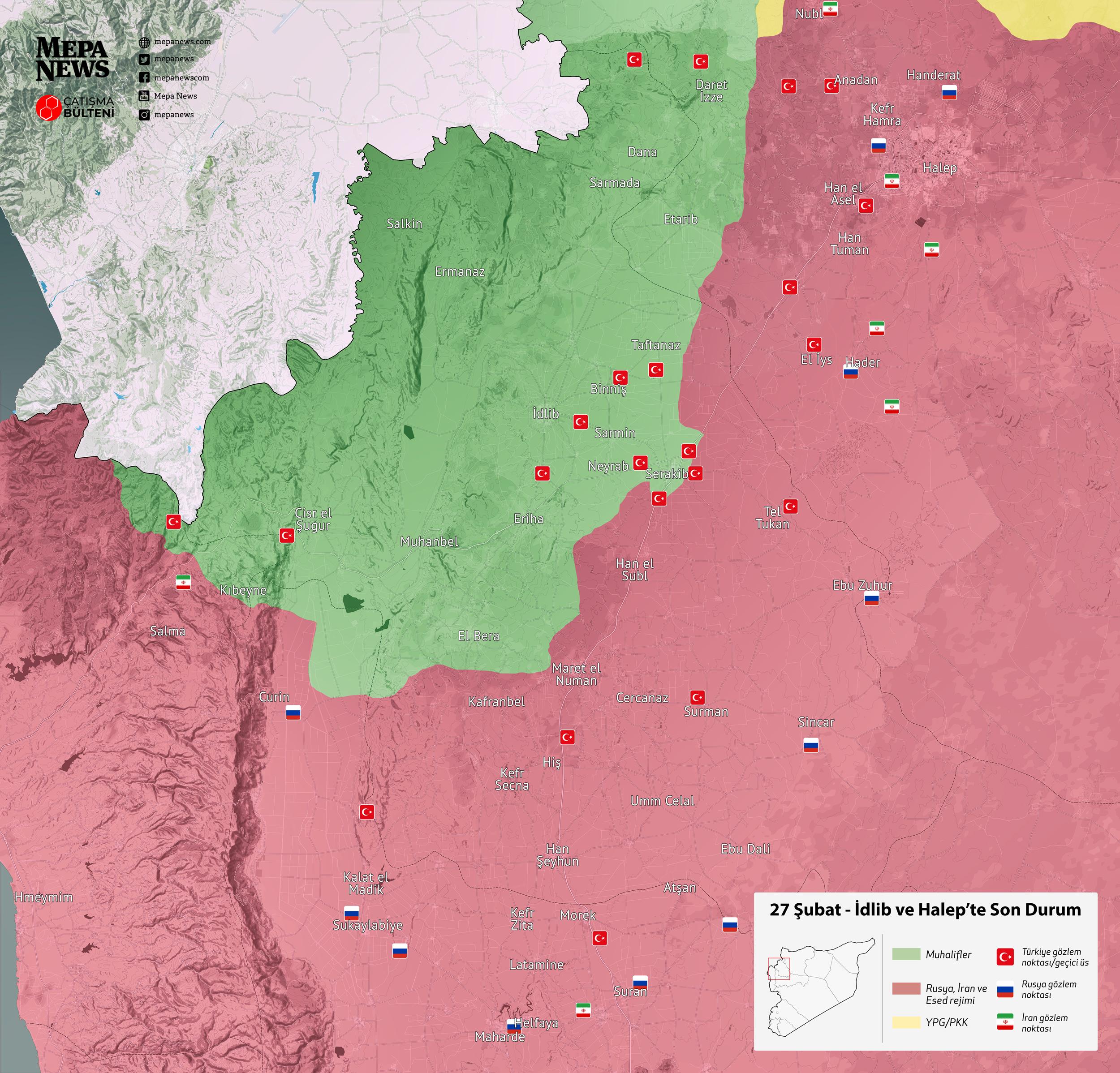 İdlib'de son durum (27 Şubat 2020)