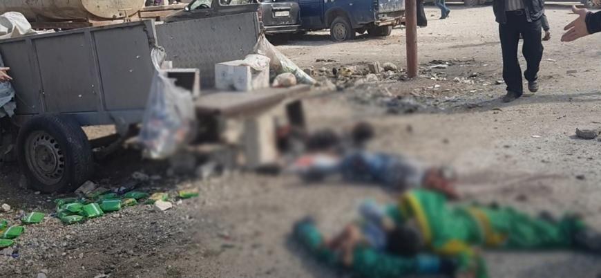 Rusya ve Esed rejimi İdlib şehir merkezini bombaladı: 5'i çocuk 9 ölü