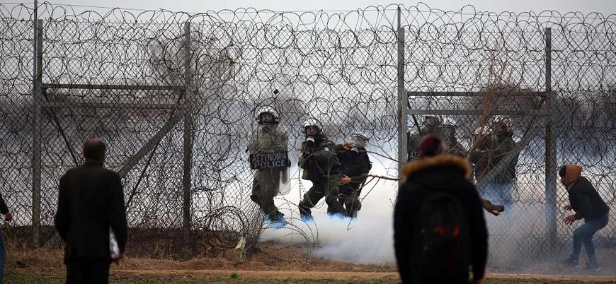 Yunan polisinin sınırı geçmeye çalışan sığınmacılara sert müdahalesi sürüyor