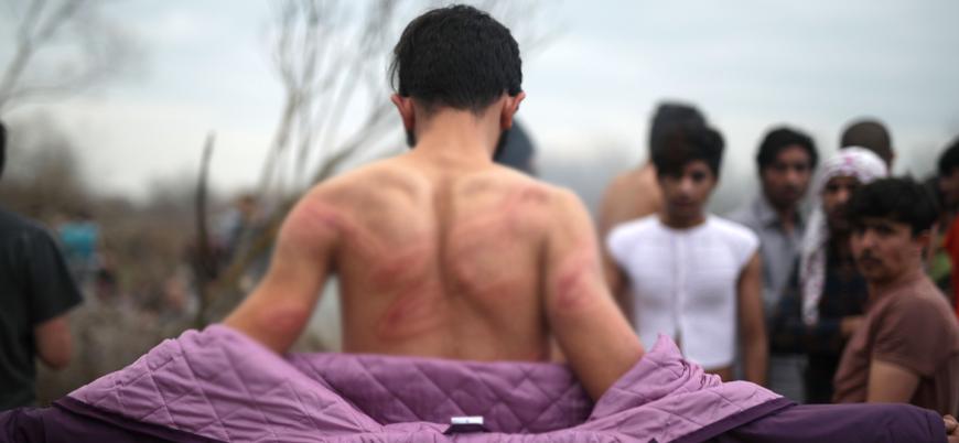 Yunan polisi sınırdaki sığınmacıları çırılçıplak soyup darp etti