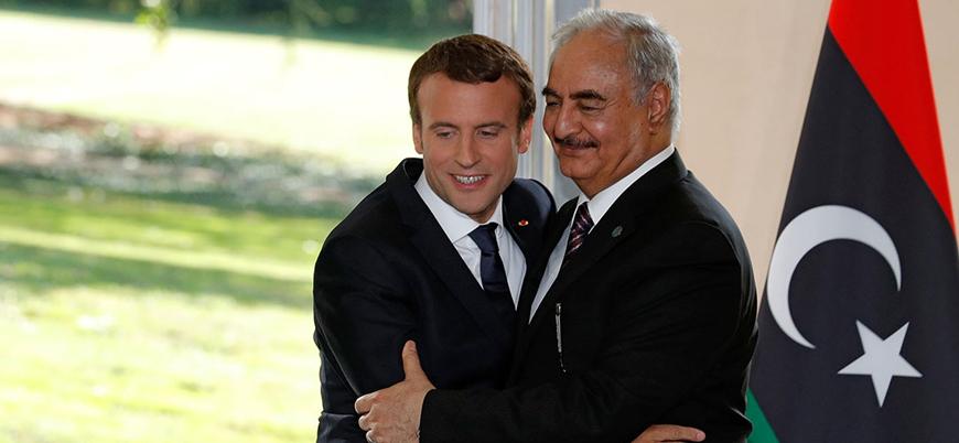 Fransa Cumhurbaşkanı Macron Hafter'i sarayında ağırladı