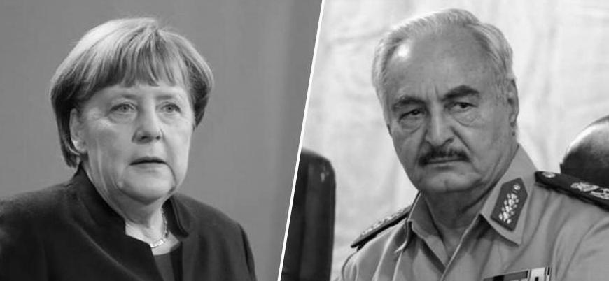 Almanya Başbakanı Merkel Hafter'i Berlin'de ağırladı