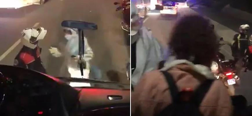 Fransa'dan gelen iki yolcunun karantina otobüsünden polis eşliğinde alınmasına soruşturma