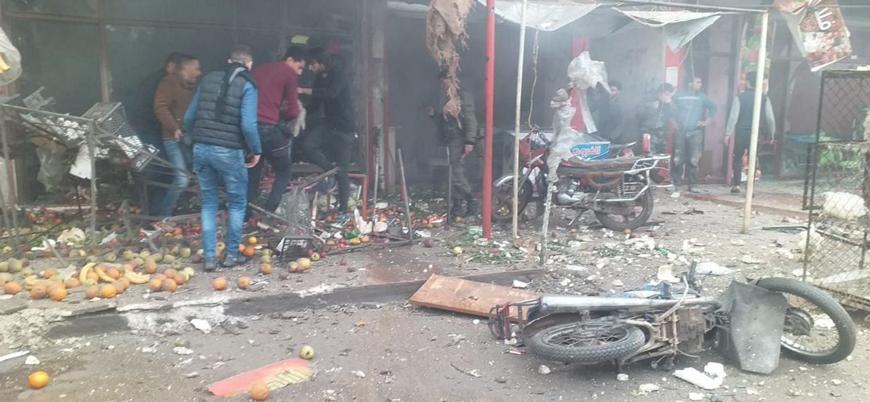 YPG/PKK Afrin kent merkezini bombaladı: 5 ölü 14 yaralı