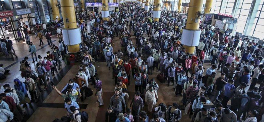 Hindistan'da 'koronavirüs' göçü