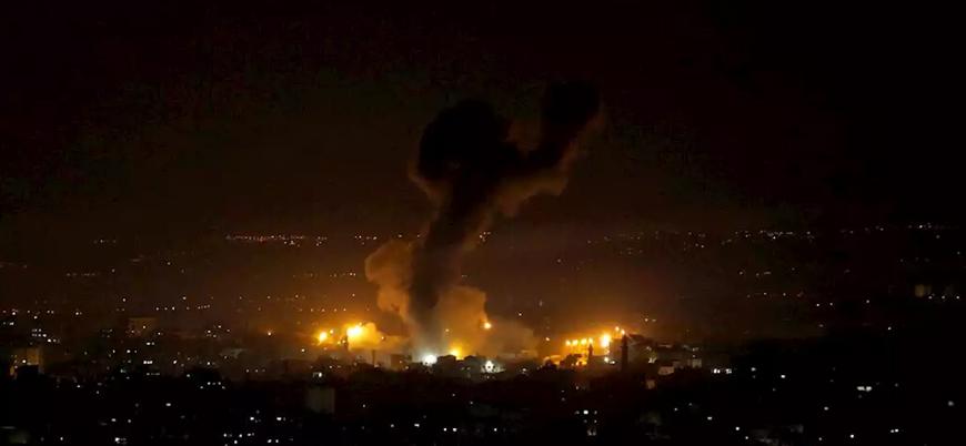 İsrail Gazze'de Hamas'a ait noktaları bombaladı