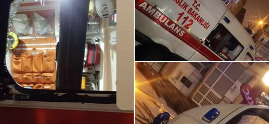 İstanbul'da koronavirüs vakasına müdahaleye giden ambulansa saldırı
