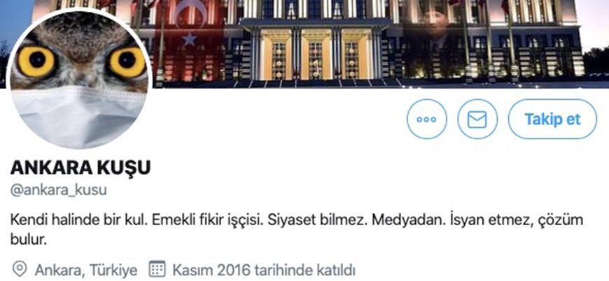 'Ankara Kuşu' Twitter hesabının yöneticisi 'FETÖ'den gözaltına alındı