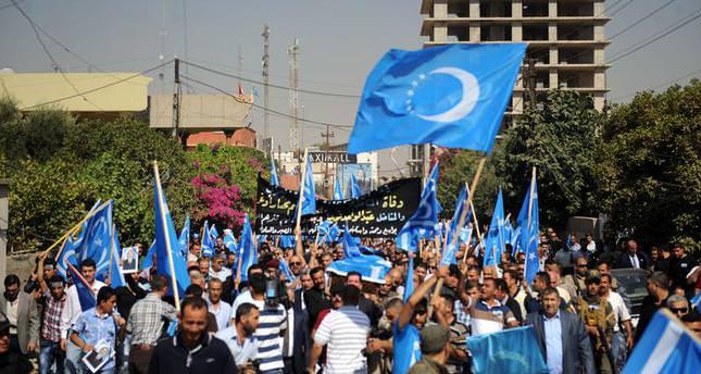 Kerkük'te Kürt Bölgesel Yönetimi bayrağına Türkmen tepkisi