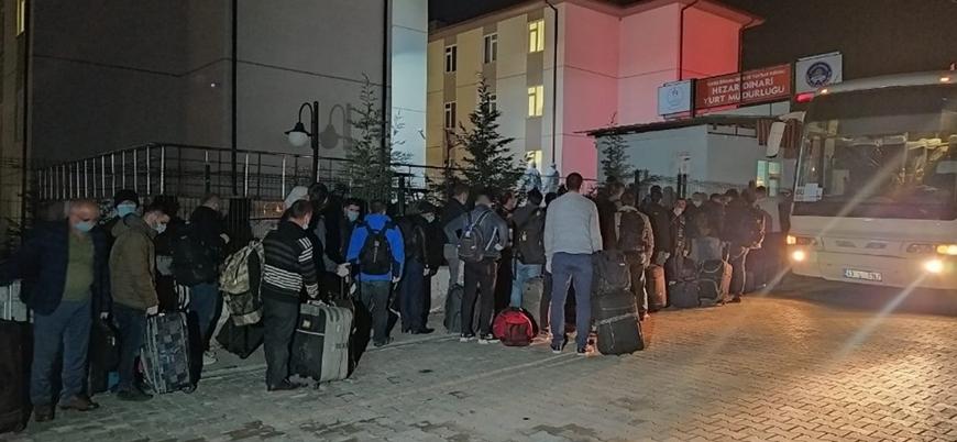 Irak'tan Türkiye'ye getirilen 334 Türk işçi karantinaya alındı