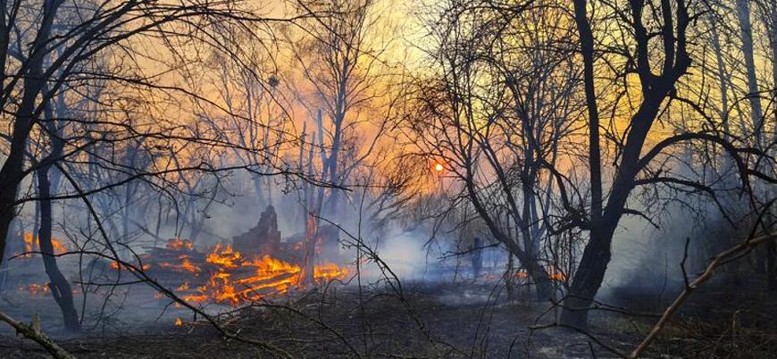 Çernobil'de yangın sonrası radyasyon seviyesi 16 kat arttı
